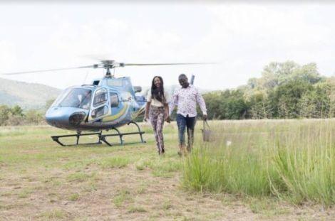 Malawian artist Duncan Zgambo (Gwamba) and his wife Kondi in South Africa in 2018