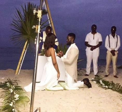 Robert 'Khula Budi' taking his vows at a private beach ceremony in Ukunda on August 20, 2020.