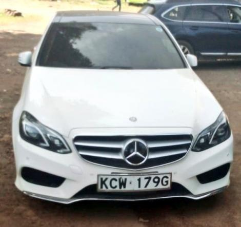Mercedes Benz seized by police in murder