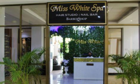 The entrance to Miss White Spa located at Kilimani Wood Avenue, Nairobi.