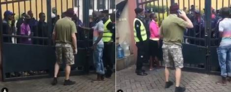 The foreigner who was confronted by an angry Kenyan mob on Thursday, June 18, 2020