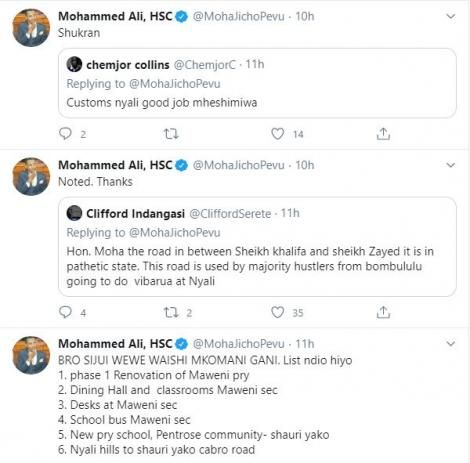 Nyali MP Mohammed Ali responding to some claims by a section of Kenyans on Thursday, May 14.