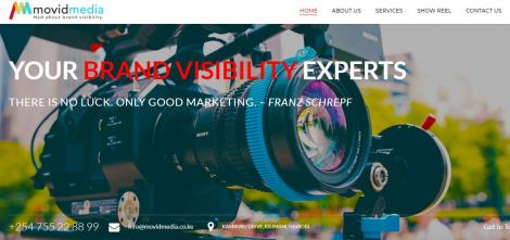 Movid Media website. It is a company that focuses on bringing to light and strengthening brand visibility.