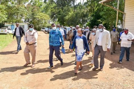 Governor Waiguru and Agriculture CS Peter Munya in Kirinyaga on June 5, 2020