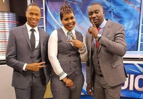 NTV Journalists from right: Kennedy Murithi, Jane Ngoiri and Salim Swaleh.
