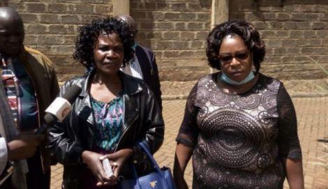 The late MP Murunga's widows Christabel Murunga and Grace Murunga speaking on November 27, 2020.