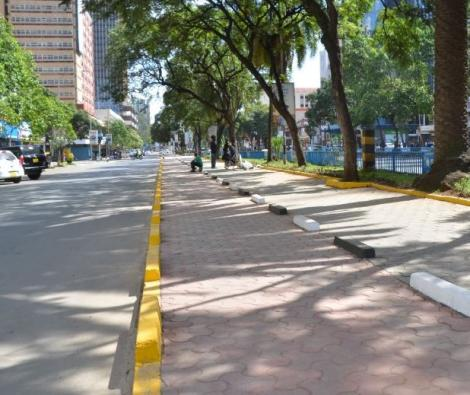 Kenyatta Avenue after the facelift by the Nairobi Metropolitan Services (NMS).