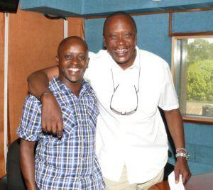Kameme FM Presenter Njogu wa Njoroge with President Uhuru Kenyatta