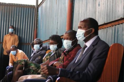 Migori governor Okoth Obado's family in court on Thursday, August 27.