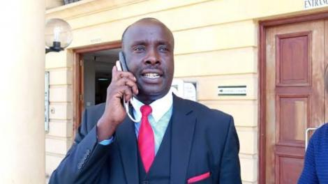 File image of lawyer Danstan Omari outside a Nairobi Court in 2019