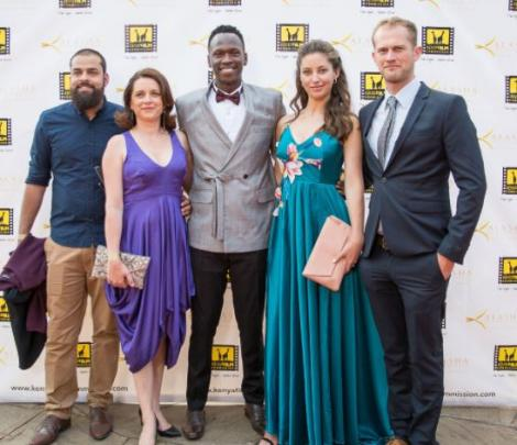 The cast and producers fo the movie Poacher at Kalasha Awards held in Nairobi in 2018