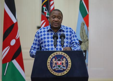 President Uhuru Kenyatta addressing the nation regarding new measures by the government