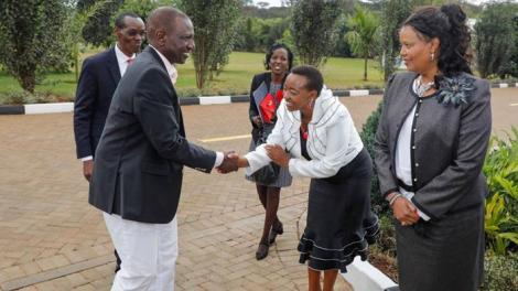 Deputy President William Ruto and his wife Rachel Ruto during a past event