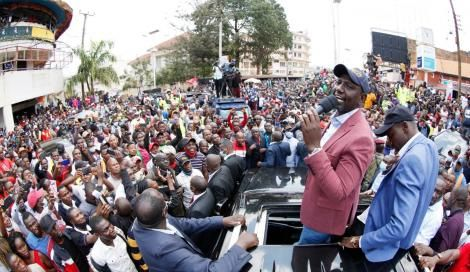 Deputy President William Ruto speaking in Kisii County on September 10, 2020