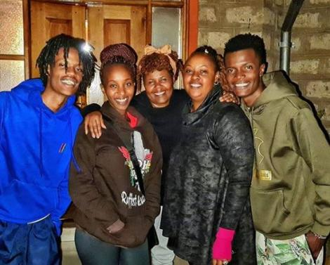 From Right Kamau Mbaya, Wanjiku Mburu, Susan Kamau and friends on September 7, 2020.
