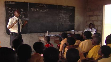 A file image of a teacher in a classroom