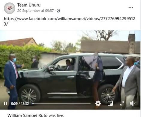 A suspicious post made by hackers who took over Team Uhuru Facebook page