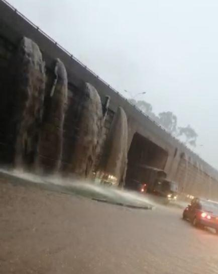 Flooding on Thika Superhighway in December 2019.