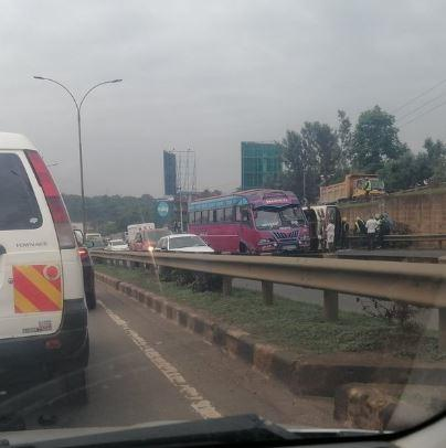 The accident on the Thika highway near Garden City on January 13, 2021.