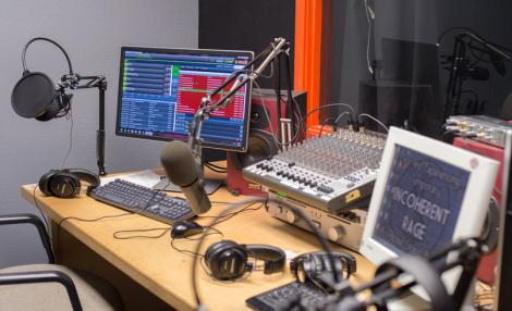 A file image of a radio station