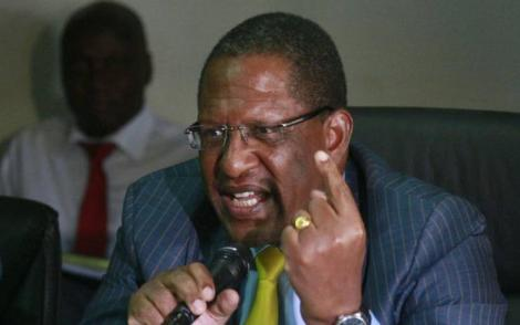 A photo of Environment Cabinet Secretary Keriako Tobiko appearing before the National Assembly Environment Committee in Nairobi on Thursday, March 7, 2019.