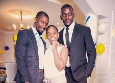 Quincy Rapando (right) with Yasmin Said (centre) and Ronald Ndubi (left) at the set of Maria Series.