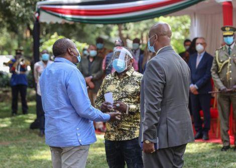 Presidnet Uhuru Kenyatta, Nairobi Governor Mike Sonko and NMS General Mohammed Badi.