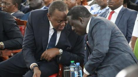 President Uhuru Kenyatta (left) nd ODM leader Raila Odinga during a previous meeting