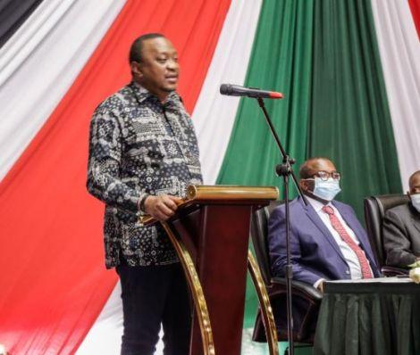 President Uhuru Kenyatta addressing National Government Administration Officers at KICC on July 2, 2020.