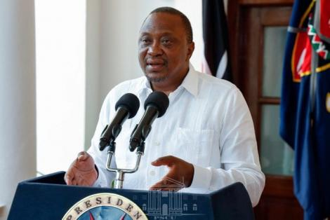President Uhuru Kenyatta delivering the New Year message on December 31, 2019.