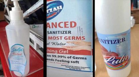 More fake brands of sanitizers nabbed by KEBS on Thursday, March 19, 2020