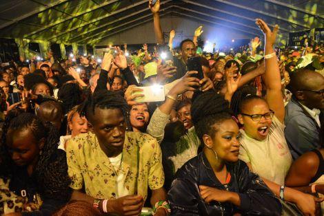 Kenyans having fun in a past concert