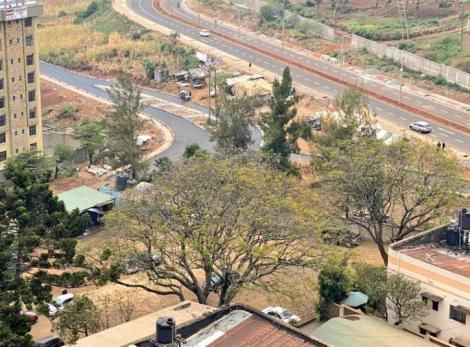 An overview of the Upperhill and Mbagathi road.