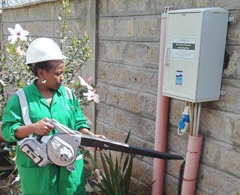 Lucy Wanjiku Mutinda during a maintenance visit on November 29, 2016