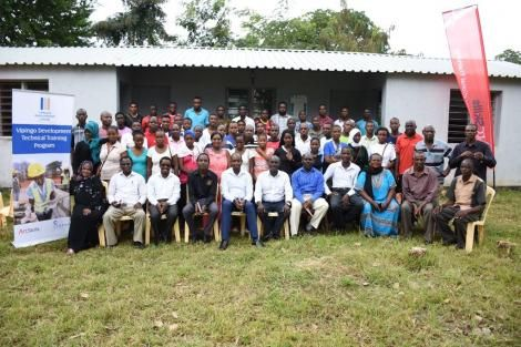 Youths attend a Vipingo Development Vocational Training Program at Mkwajuni Youth Polytechnic in Kilifi County on Wednesday, July 12, 2018.