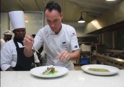 Australian chef Chris Wade at Sarova Whitesands Beach Resort