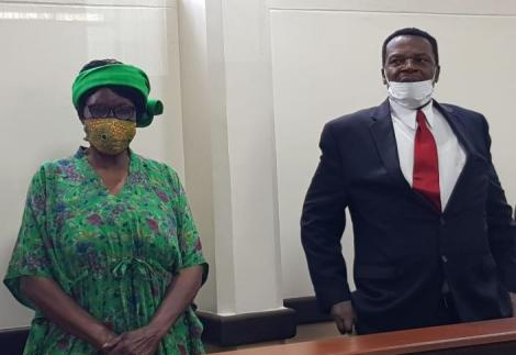 Sirisai MP John Waluke, and Grace Wakhungu in court on Thursday, June 25.