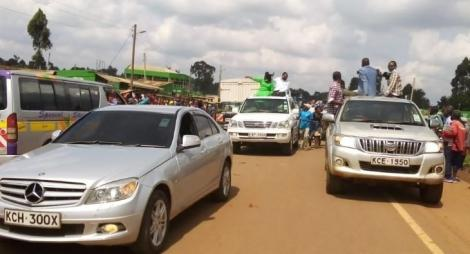 Scenes from Bungoma Senator Moses Wetangula convoy on June 19, 2020.