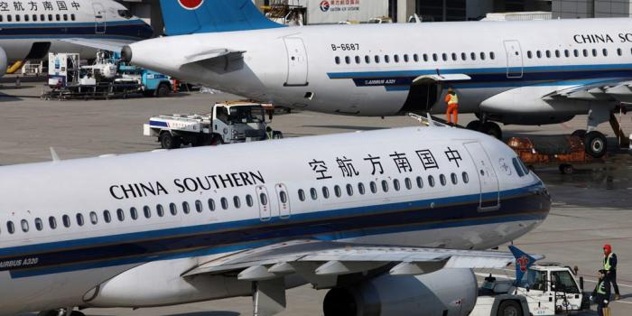 A fleet of China Southern Airlines planes