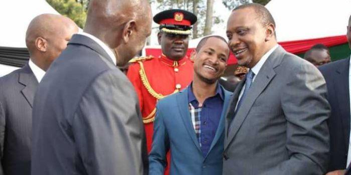Image result for babu owino and uhuru kenyatta