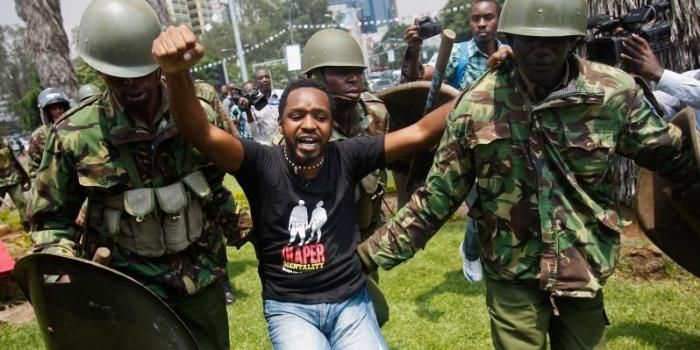 Image result for boniface mwangi arrest at Gilgil story