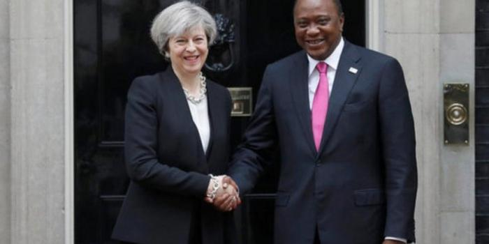 [PICTURES] UK PM Theresa May lands in Cape Town