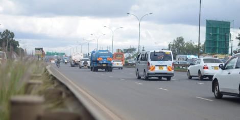 Traffic on a section Of Thika Super Highway as seen on November 11, 2019.
