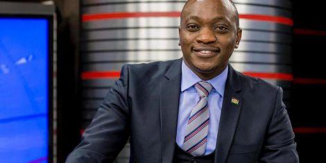 News anchor Ken Mijungu at NTV studio