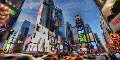 A photo of US Times Square