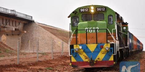 A train plies the Meter Gauge Railway