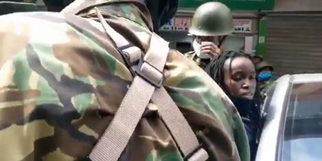 Activist Wanjiru Njira's encounter with police in Nairobi during the Saba Saba match on Tuesday, July 7, 2020.