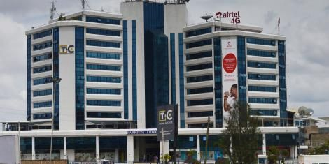 A photo of Airtel headquarters along Mombasa Road as pictured on Thursday, October 14, 2019.