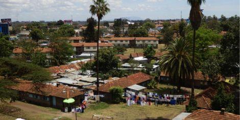An aerial view of Kaloleni Estate in Nairobi.