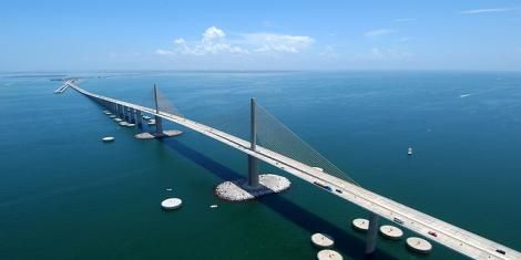 An artists impression of a floating bridge.